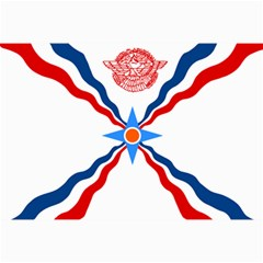 Assyrian Flag  Canvas 12  X 18