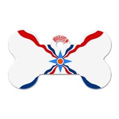 Assyrian Flag  Dog Tag Bone (one Side)