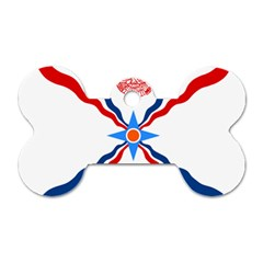 Assyrian Flag  Dog Tag Bone (two Sides)