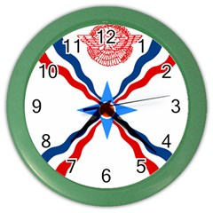 Assyrian Flag  Color Wall Clocks