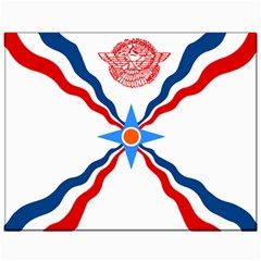 Assyrian Flag  Canvas 11  X 14