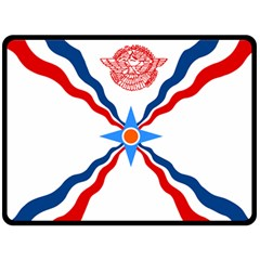 Assyrian Flag  Fleece Blanket (large)