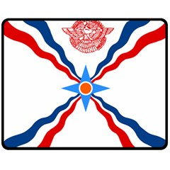 Assyrian Flag  Fleece Blanket (medium)