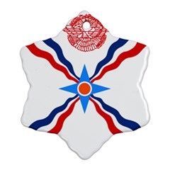 Assyrian Flag  Ornament (snowflake)