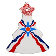 Assyrian Flag  Christmas Tree Ornament (two Sides)