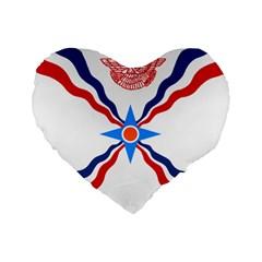 Assyrian Flag  Standard 16  Premium Heart Shape Cushions