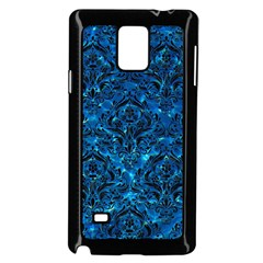 Damask1 Black Marble & Deep Blue Water (r) Samsung Galaxy Note 4 Case (black)