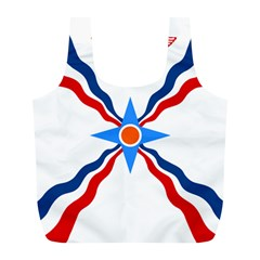Assyrian Flag  Full Print Recycle Bags (l)