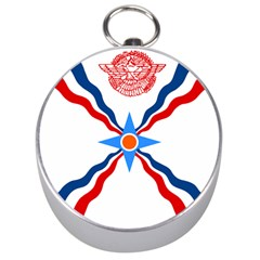 Assyrian Flag  Silver Compasses