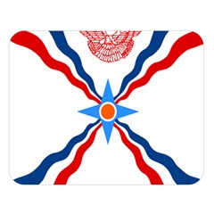 Assyrian Flag  Double Sided Flano Blanket (large)