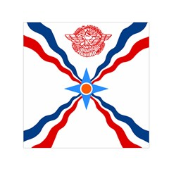 Assyrian Flag  Small Satin Scarf (square)