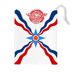 Assyrian Flag  Drawstring Pouches (extra Large)