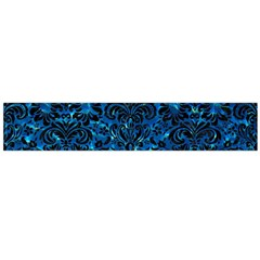 Damask2 Black Marble & Deep Blue Water (r) Flano Scarf (large)