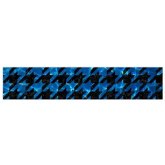 Houndstooth1 Black Marble & Deep Blue Water Flano Scarf (small)