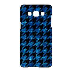 Houndstooth1 Black Marble & Deep Blue Water Samsung Galaxy A5 Hardshell Case