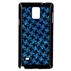 Houndstooth2 Black Marble & Deep Blue Water Samsung Galaxy Note 4 Case (black)