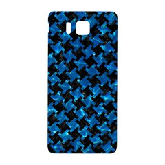 Houndstooth2 Black Marble & Deep Blue Water Samsung Galaxy Alpha Hardshell Back Case