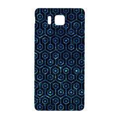 Hexagon1 Black Marble & Deep Blue Water Samsung Galaxy Alpha Hardshell Back Case