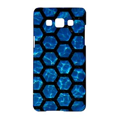 Hexagon2 Black Marble & Deep Blue Water (r) Samsung Galaxy A5 Hardshell Case