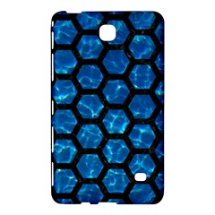 Hexagon2 Black Marble & Deep Blue Water (r) Samsung Galaxy Tab 4 (7 ) Hardshell Case