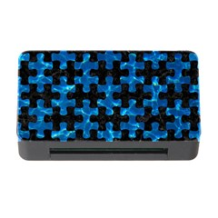 Puzzle1 Black Marble & Deep Blue Water Memory Card Reader With Cf
