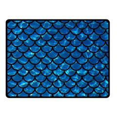 Scales1 Black Marble & Deep Blue Water (r) Fleece Blanket (small)