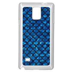 Scales1 Black Marble & Deep Blue Water (r) Samsung Galaxy Note 4 Case (white)