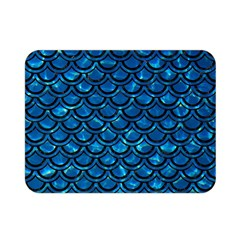 Scales2 Black Marble & Deep Blue Water (r) Double Sided Flano Blanket (mini)
