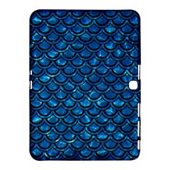 Scales2 Black Marble & Deep Blue Water (r) Samsung Galaxy Tab 4 (10 1 ) Hardshell Case