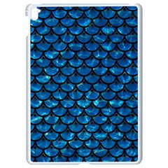 Scales3 Black Marble & Deep Blue Water (r) Apple Ipad Pro 9 7   White Seamless Case