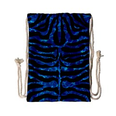 Skin2 Black Marble & Deep Blue Water Drawstring Bag (small)