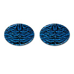 Skin2 Black Marble & Deep Blue Water (r) Cufflinks (oval)