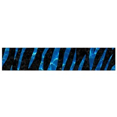 Skin3 Black Marble & Deep Blue Water Flano Scarf (small)