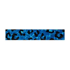Skin5 Black Marble & Deep Blue Water Flano Scarf (mini)