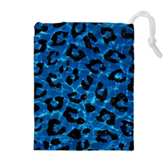 Skin5 Black Marble & Deep Blue Water Drawstring Pouches (extra Large)