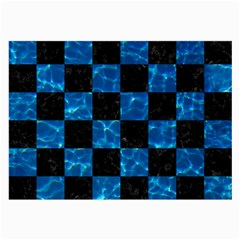 Square1 Black Marble & Deep Blue Water Large Glasses Cloth (2 Side)