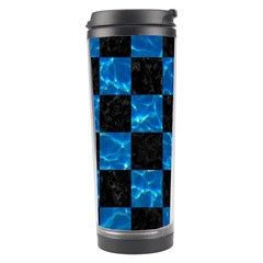 Square1 Black Marble & Deep Blue Water Travel Tumbler
