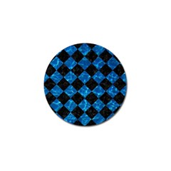 Square2 Black Marble & Deep Blue Water Golf Ball Marker (10 Pack)