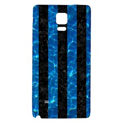 Stripes1 Black Marble & Deep Blue Water Galaxy Note 4 Back Case