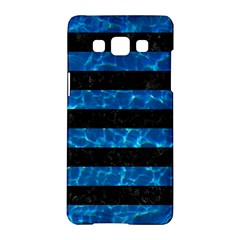 Stripes2 Black Marble & Deep Blue Water Samsung Galaxy A5 Hardshell Case