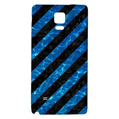 Stripes3 Black Marble & Deep Blue Water Galaxy Note 4 Back Case