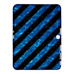 Stripes3 Black Marble & Deep Blue Water Samsung Galaxy Tab 4 (10 1 ) Hardshell Case