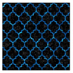 Tile1 Black Marble & Deep Blue Water Large Satin Scarf (square)