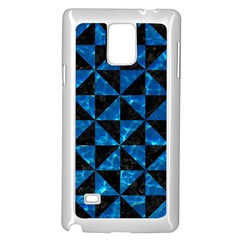 Triangle1 Black Marble & Deep Blue Water Samsung Galaxy Note 4 Case (white)