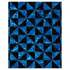Triangle1 Black Marble & Deep Blue Water Drawstring Bag (small)