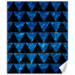 Triangle2 Black Marble & Deep Blue Water Canvas 8  X 10