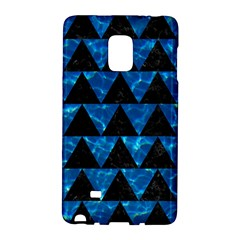 Triangle2 Black Marble & Deep Blue Water Galaxy Note Edge