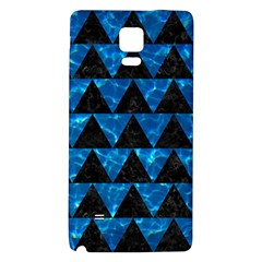 Triangle2 Black Marble & Deep Blue Water Galaxy Note 4 Back Case