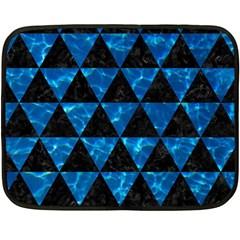 Triangle3 Black Marble & Deep Blue Water Double Sided Fleece Blanket (mini)