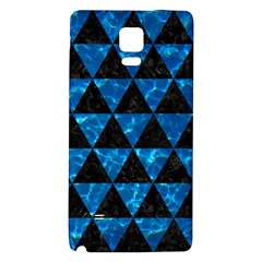 Triangle3 Black Marble & Deep Blue Water Galaxy Note 4 Back Case